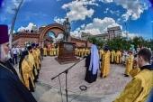 В Новосибирске освящен памятник страстотерпцам царю Николаю и царевичу Алексию