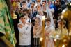 Патриаршее служение в Троице-Сергиевой лавре. Литургия и молебен в день обретения мощей прп. Сергия Радонежского. Награждение архиереев