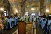 В канун праздника Казанской иконы Божией Матери Святейший Патриарх Кирилл совершил всенощное бдение в Оптиной пустыни