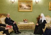 Святейший Патриарх Кирилл встретился с послом Германии в Российской Федерации