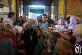 Предстоятель Украинской Православной Церкви совершил визит в Изюмскую епархию