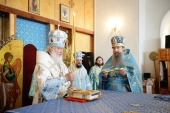 В праздник Казанской иконы Божией Матери Предстоятель Русской Церкви совершил Литургию в Казанской пустыни в Шамордино