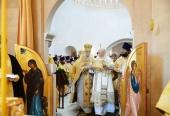 Предстоятель Русской Церкви совершил освящение храма Живоначальной Троицы в поселении Троицк г. Москвы