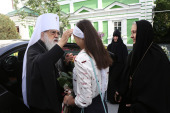 В праздник положения честной ризы Господней митрополит Филарет (Вахромеев) посетил Гродненский ставропигиальный монастырь