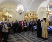 Соловецкие юнги разных поколений молились у мощей основателей Соловецкого монастыря