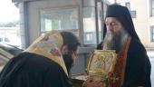 Ковчег с главой святого великомученика Пантелеимона из Русского на Афоне Пантелеимонова монастыря принесен в Болгарию