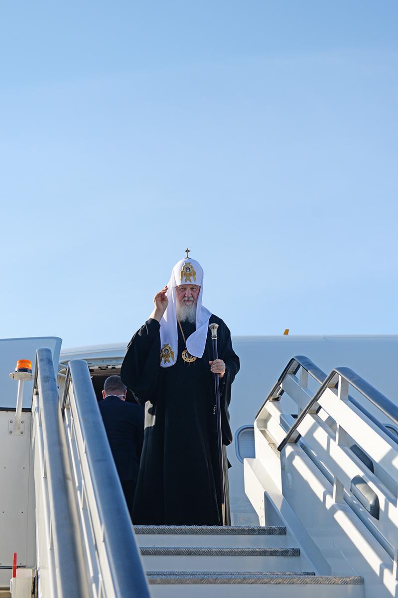 Патриарший визит в Санкт-Петербургскую митрополию. Прибытие в Санкт-Петербург