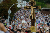 В Киеве около 100 тысяч верующих приняли участие в молебне и крестном ходе в канун Дня Крещения Руси