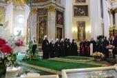 Слово Святейшего Патриарха Кирилла в День Крещения Руси после Литургии в Троицком соборе Александро-Невской лавры