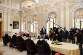 Патриарший визит в Санкт-Петербургскую митрополию. Встреча с делегацией Римско-Католической Церкви