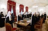 Святейший Патриарх Кирилл возглавил очередное заседание Священного Синода в Санкт-Петербурге