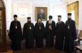 Предстоятель Болгарской Церкви встретился с делегацией Русского на Афоне Пантелеимонова монастыря