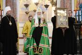 Слово Святейшего Патриарха Кирилла в Неделю 8-ю по Пятидесятнице после Литургии в Никольском Морском соборе в Кронштадте