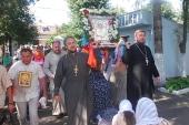 В Волынской епархии встретили международный крестный ход к Почаевской лавре