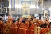 В день памяти пророка Божия Илии Предстоятель Православной Церкви Молдовы совершил Литургию в Рождественском кафедральном соборе Кишинева