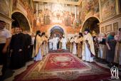 В Неделю 9-ю по Пятидесятнице Предстоятель Украинской Православной Церкви совершил Литургию в Успенском соборе Киево-Печерской лавры