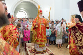 В день памяти великомученика Пантелеимона Патриарший экзарх всея Беларуси совершил Литургию в Пантелеимоновом храме городского поселка Мачулищи