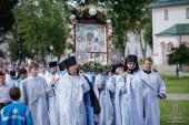 В Валдайском Иверском монастыре прошли торжества в день празднования Иверской иконе Божией Матери