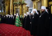 Святейший Патриарх Кирилл совершил Литургию в Воскресенском кафедральном соборе Арзамаса