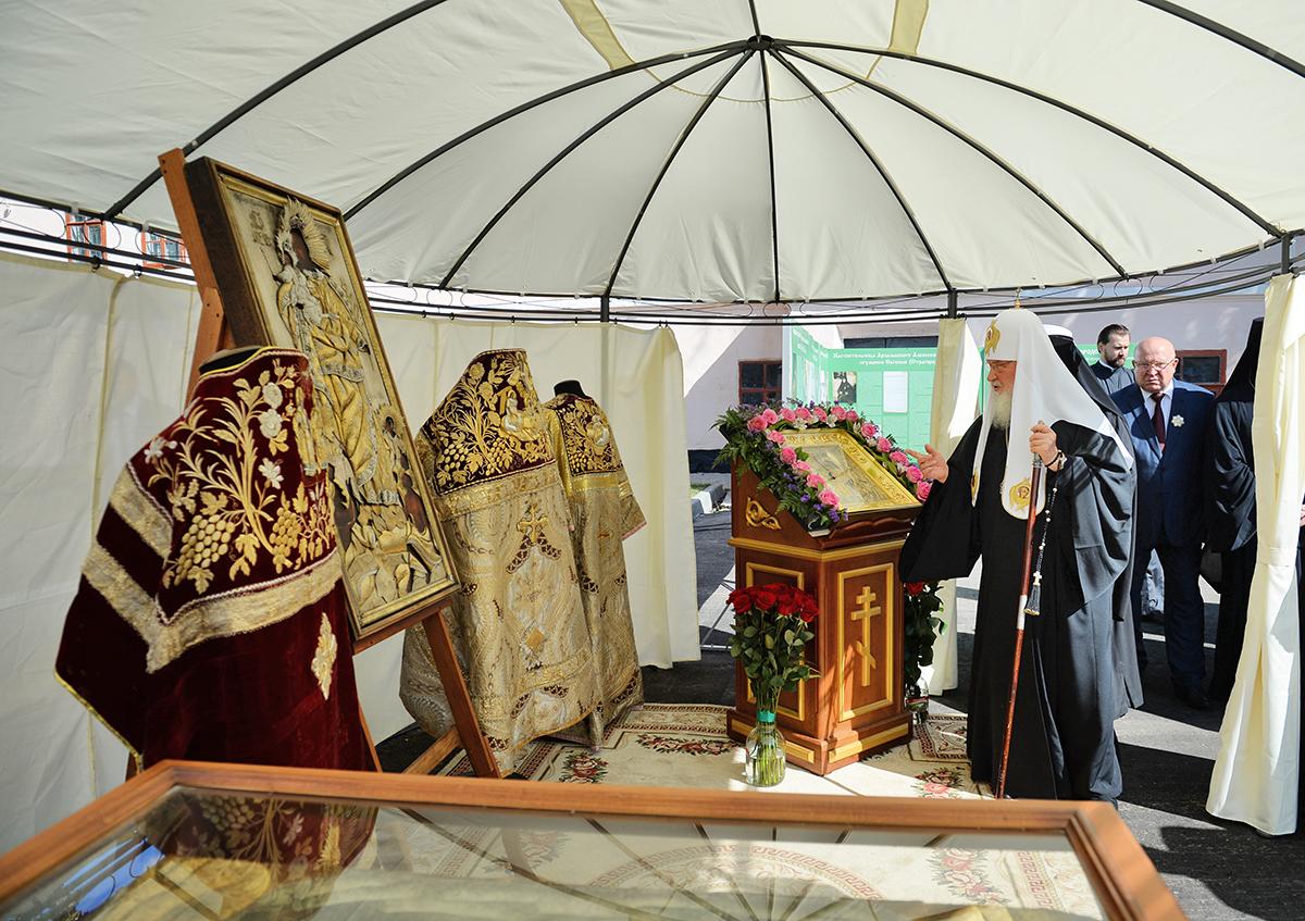 Патриарший визит в Арзамас. Посещение места погребения родственников Патриарха Сергия (Страгородского)