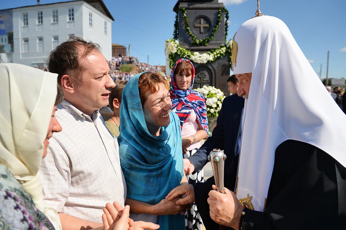 Патриарший визит в Арзамас. Освящение памятника Патриарху Сергию (Страгородскому)