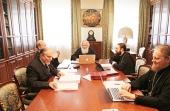 В Издательском Совете состоялось очередное заседание рабочей группы по изданию сборника нормативных документов Русской Православной Церкви
