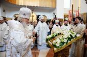 Предстоятель Русской Церкви совершил утреню всенощного бдения в Константино-Еленинском монастыре Санкт-Петербургской епархии