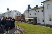 Святейший Патриарх Кирилл ознакомился с ходом ремонтно-реставрационных работ в Соловецком монастыре