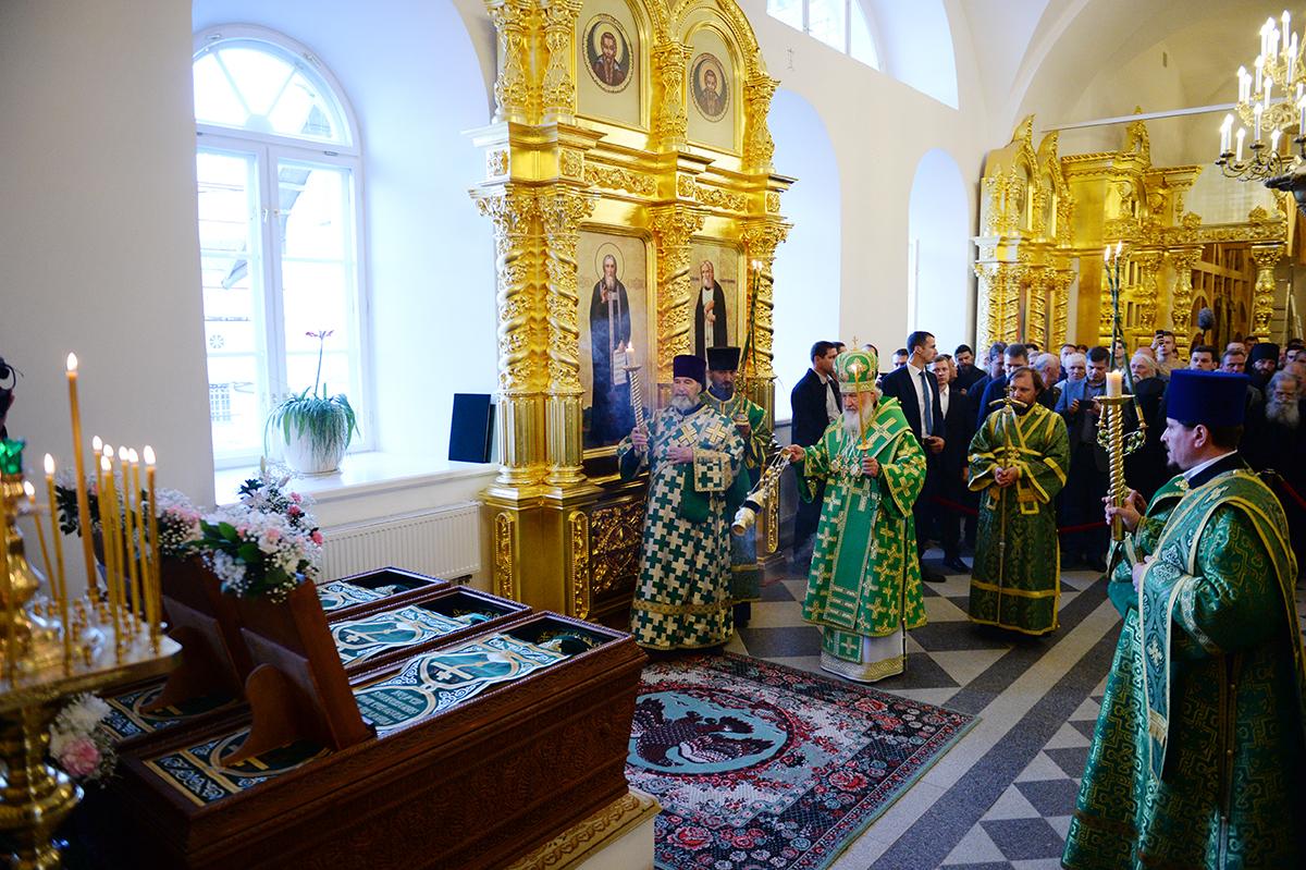 Патриарший визит на Соловки. Всенощное бдение в Троицком соборе Соловецкого монастыря