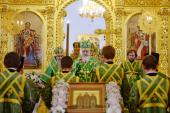 Святейший Патриарх Кирилл совершил всенощное бдение в Троицком соборе Соловецкого монастыря