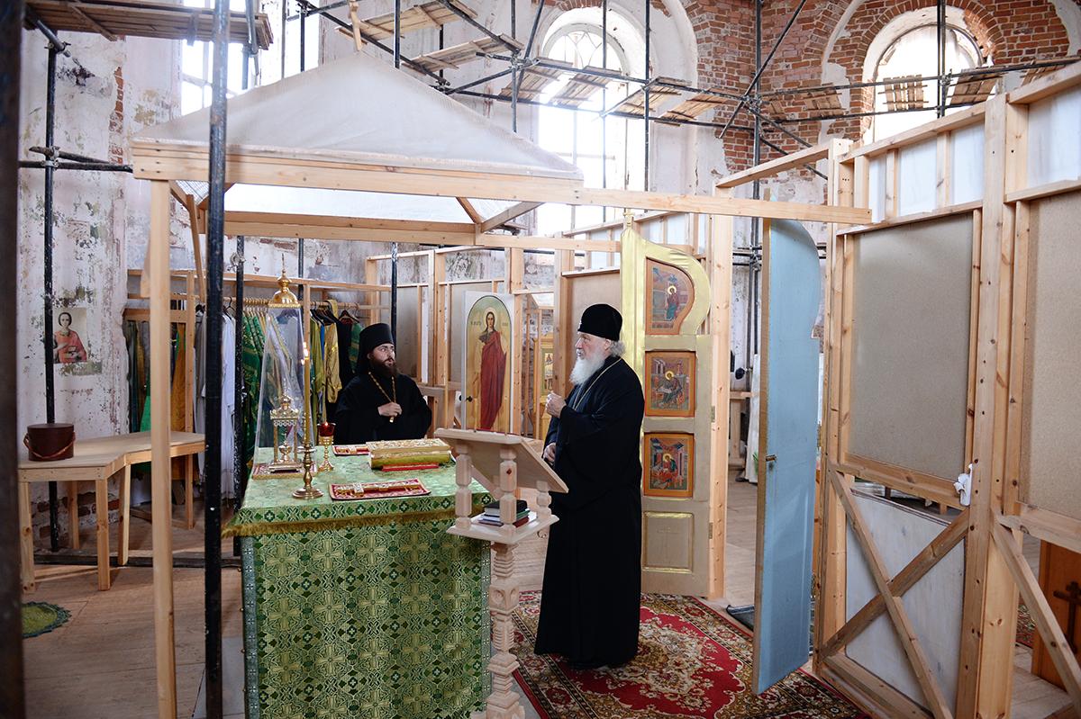 Патриарший визит на Соловки. Посещение Голгофо-Распятского и Троицкого скитов