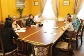 В отделе по социальному служению Ростовской епархии обсудили вопросы организации помощи пострадавшим от пожара в Ростове