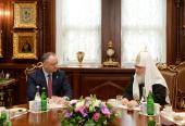 Святейший Патриарх Кирилл поздравил Президента Республики Молдова И.Н. Додона с Днем независимости