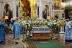 Патриаршее служение в канун праздника Успения Пресвятой Богородицы в Храме Христа Спасителя в Москве