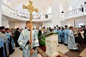 Святейший Патриарх Кирилл освятил Георгиевский храм в г. Ярцеве Смоленской области