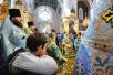 Патриарший визит в Смоленскую митрополию. Литургия в Успенском соборе Смоленска
