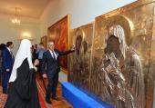 Святейший Патриарх Кирилл ознакомился с ходом реставрации Успенского собора Смоленска