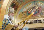 Святейший Патриарх Кирилл совершил Литургию в кафедральном соборе Христа Спасителя в Калининграде