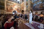 В Неделю 13-ю по Пятидесятнице Предстоятель Украинской Православной Церкви возглавил Литургию в Киево-Печерской лавре
