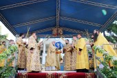 В день памяти святителя Гавриила (Бэнулеску-Бодони) Предстоятель Православной Церкви Молдовы совершил Литургию в Каприянском Успенском монастыре