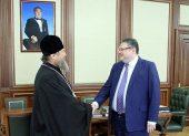 Глава Казахстанского митрополичьего округа и первый заместитель руководителя Администрации Президента Республики Казахстан обсудили государственно-конфессиональные отношения в стране