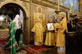 Патриаршее слово в день памяти святителя Петра Московского в Успенском соборе Московского Кремля