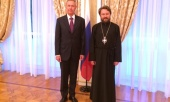 Председатель ОВЦС встретился с послом России в Греции А.М. Масловым
