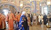 Митрополит Волоколамский Иларион возглавил престольные торжества в московском храме Усекновения главы Иоанна Предтечи под Бором
