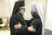 Відбулася зустріч митрополита Волоколамського Іларіона з Блаженнішим Патріархом Антіохійським Іоанном