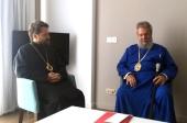 Митрополит Волоколамский Иларион встретился с Архиепископом Кипрским Хризостомом