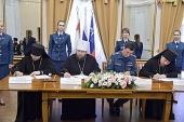 Подписано соглашение о сотрудничестве между Вологодской митрополией и Главным управлением МЧС России по Вологодской области