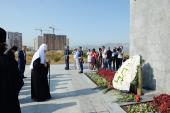 Святейший Патриарх Кирилл посетил мемориал «Малая земля» в Новороссийске