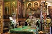 Председатель Синодального отдела по монастырям и монашеству совершил Литургию в Иосифо-Волоцком монастыре в день памяти основателя обители