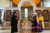 Митрополит Волоколамский Иларион совершил Божественную литургию в Успенском соборе в Лондоне